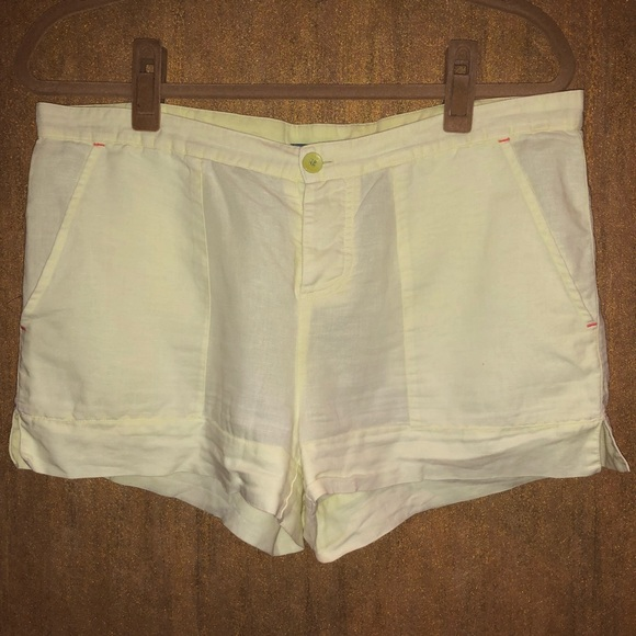 C&C California Pants - C&C California Yellow Linen Shorts